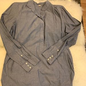 J. Crew cotton TUNIC Long sleeves
